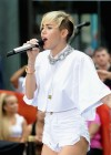 Miley Cyrus in White Shorts Performing on the Today show -39