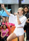 Miley Cyrus in White Shorts Performing on the Today show -41