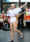 Miley Cyrus in White Shorts Performing on the Today show -44