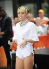 Miley Cyrus in White Shorts Performing on the Today show -47