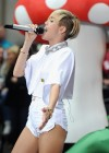 Miley Cyrus in White Shorts Performing on the Today show -48
