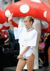 Miley Cyrus in White Shorts Performing on the Today show -49