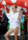 Miley Cyrus in White Shorts Performing on the Today show -57
