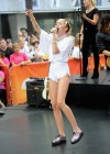 Miley Cyrus in White Shorts Performing on the Today show -59