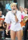 Miley Cyrus in White Shorts Performing on the Today show -60