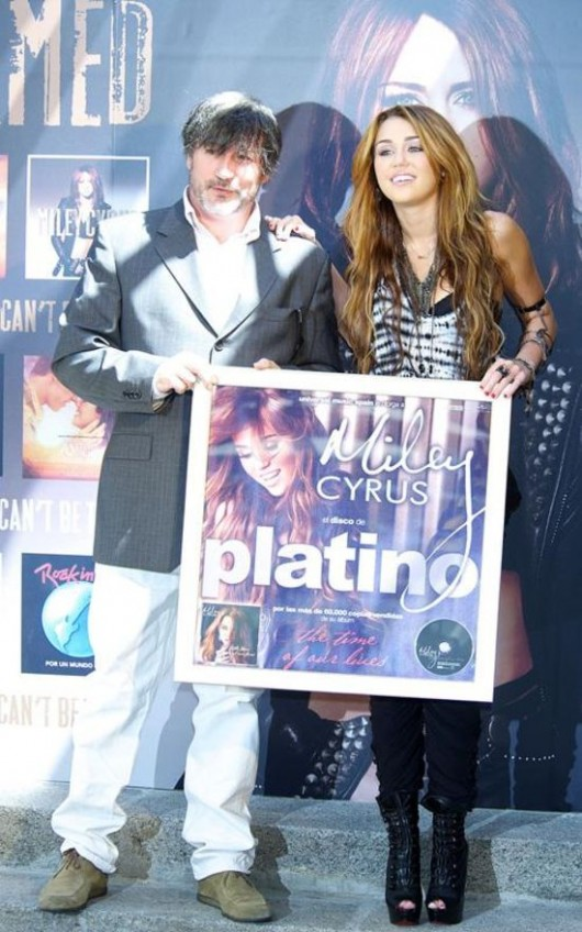 "Miley Cyrus presents her new album ""Can't Be Tamed"" in Madrid, Spain on Monday"