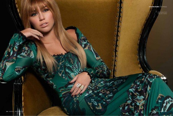 Miley Cyrus – Prestige Magazine (September 2011) adds