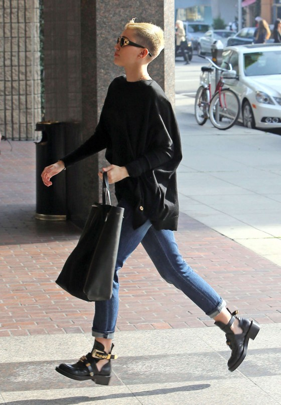 Miley Cyrus - Shopping Candids in Beverly Hills -02