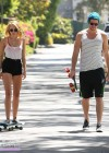 Miley Cyrus - out skateboarding-04