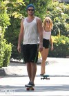 Miley Cyrus - out skateboarding-06