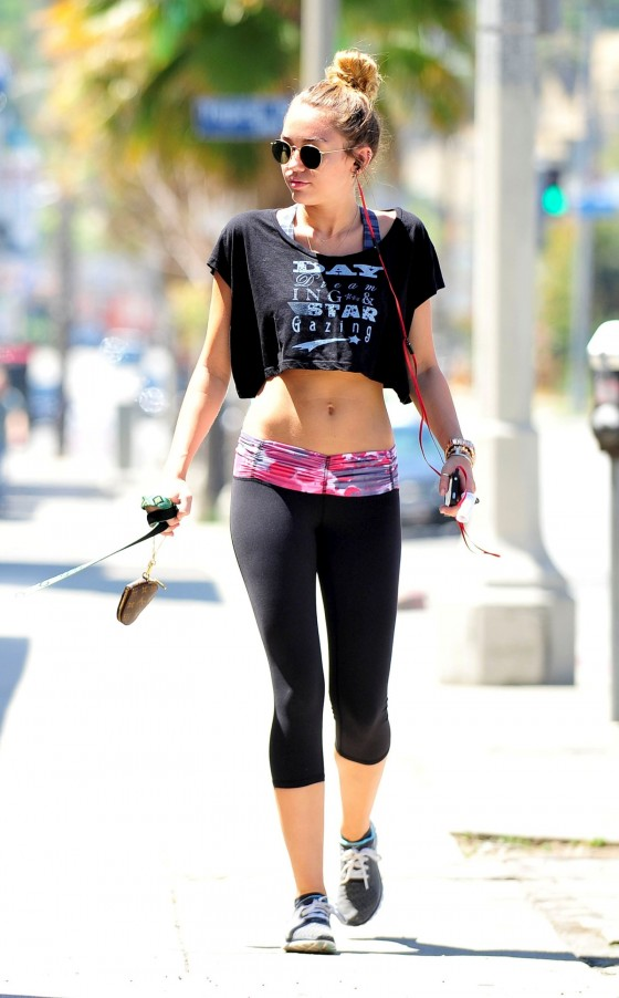 Miley Cyrus - Spandex Candids in Studio City - April 2012