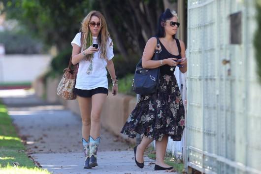 Miley Cyrus – Toluca Lake candids in short shorts – Oct 10