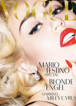 Miley Cyrus: Vogue Germany Cover -01