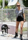 Miley Cyrus - With Her Dog-07
