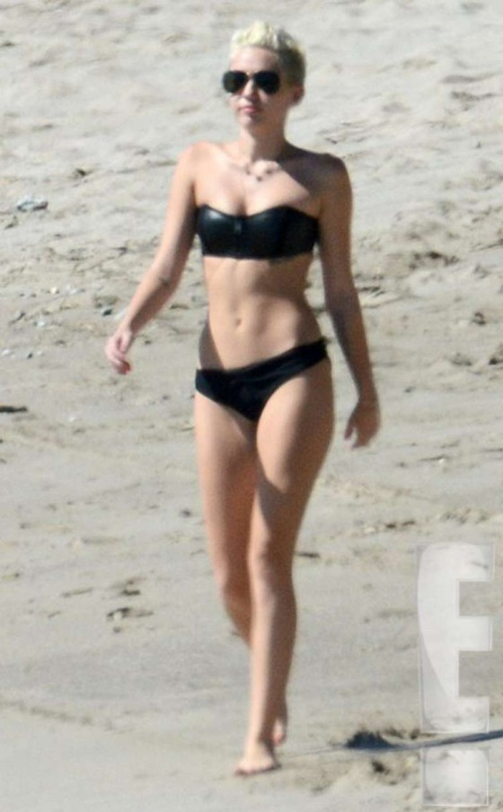 Miley Cyrus In Bikini on a beach in Costa Rica-04