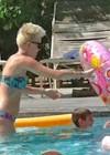 Miley Cyrus - Wearing a Bikini at a Pool in Palm Desert -04