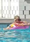 Miley Cyrus - Wearing a Bikini at a Pool in Palm Desert -12