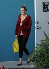 Miley Cyrus wearing yoga pants leaving her pilates class-08