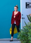 Miley Cyrus wearing yoga pants leaving her pilates class-11