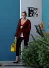 Miley Cyrus wearing yoga pants leaving her pilates class-15