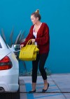 Miley Cyrus wearing yoga pants leaving her pilates class-17