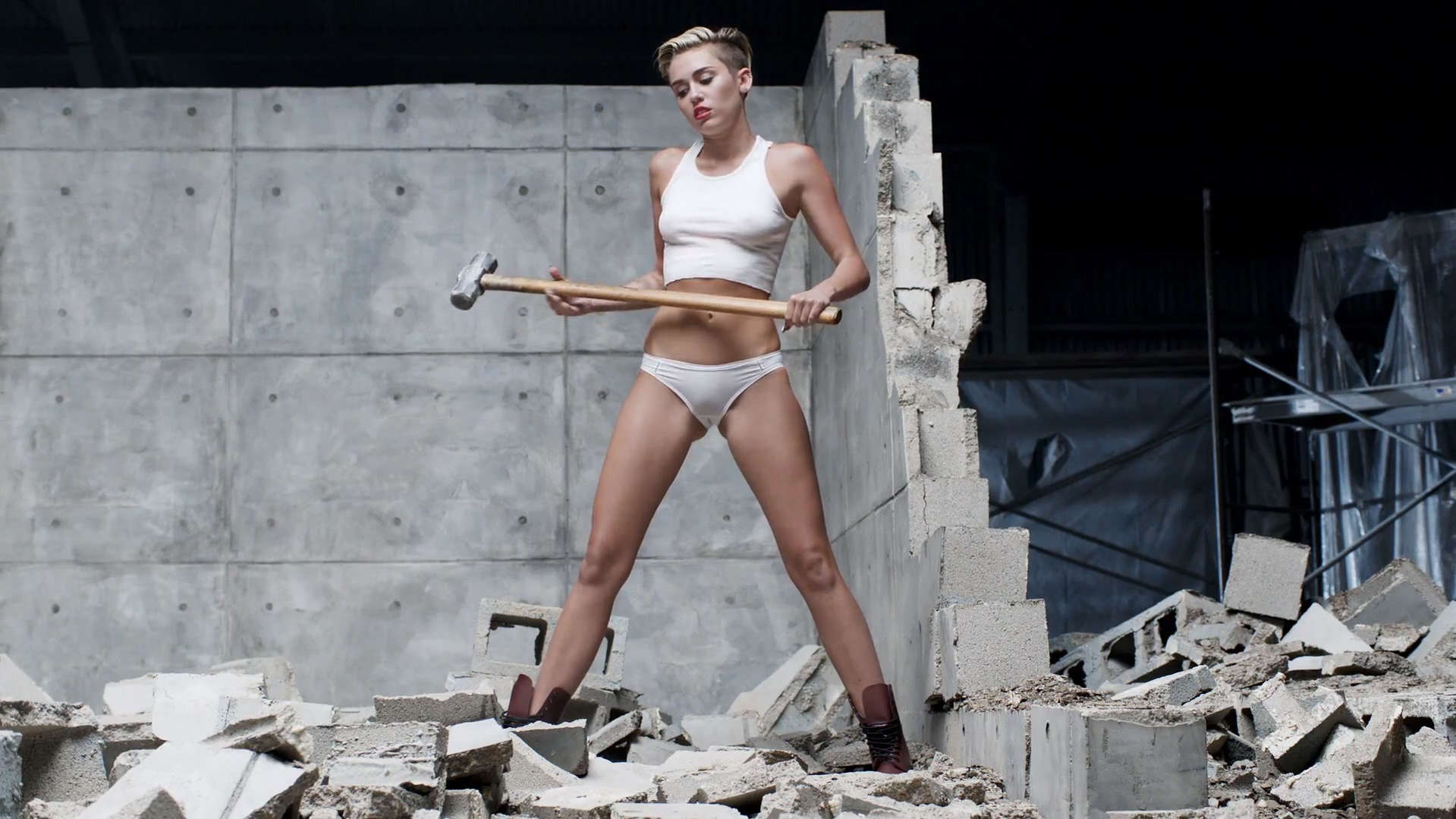 Miley Cyrus Wrecking Ball Video Stills Full Size