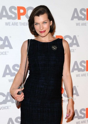 Milla Jovovich - 2014 ASPCA Passion Awards Party in Bel Air