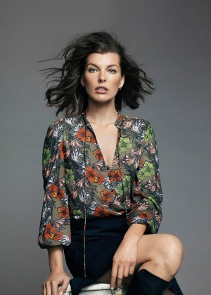 Milla Jovovich - Nico Bustos Photoshoot for El Corte Ingles' Autumn 2014