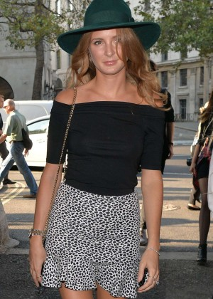 Millie Mackintosh in Mini Skirt Out in London