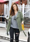 Minka Kelly leavung Urth Cafe in Beverly Hills