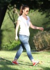 Minka Kelly In Jeans at Cold Water Canyon Park-11