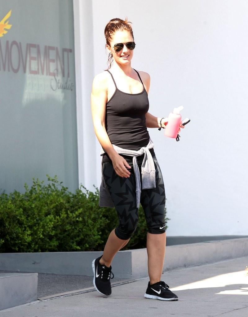 Minka Kelly 2014 : Minka Kelly – leaving the gym in West Hollywood -02