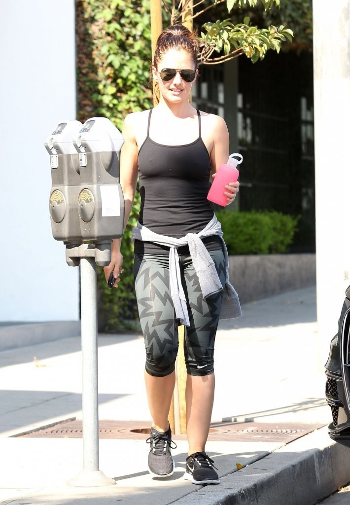 Minka Kelly 2014 : Minka Kelly – leaving the gym in West Hollywood -06