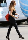 Minka Kelly - Skinny Pants Candids in Los Angeles