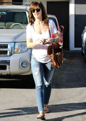 Minka Kelly in Ripped Jeans out in Beverly Hills