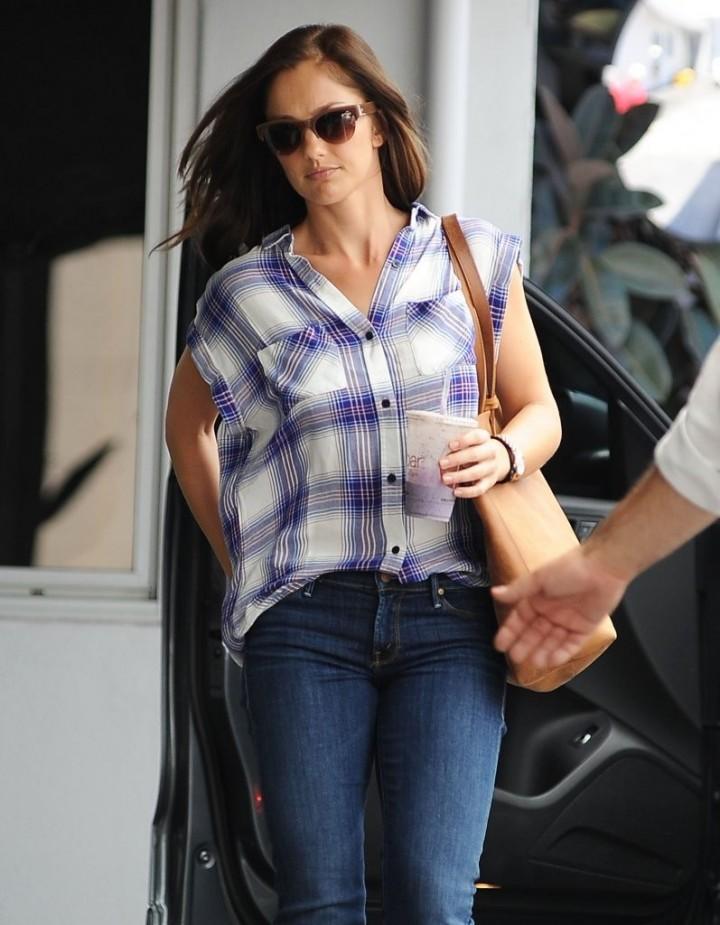 Minka Kelly in jeans out in LA