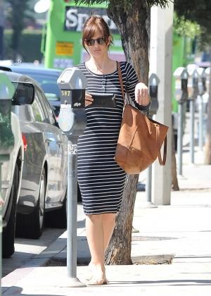 Minka Kelly in Tight Dress in Los Angeles