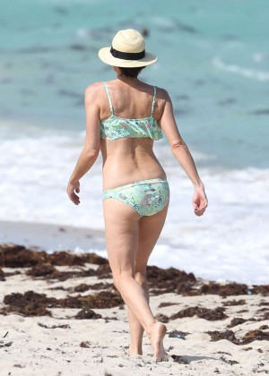 Minnie Driver Bikini Photos: 2014 in Malibu -05