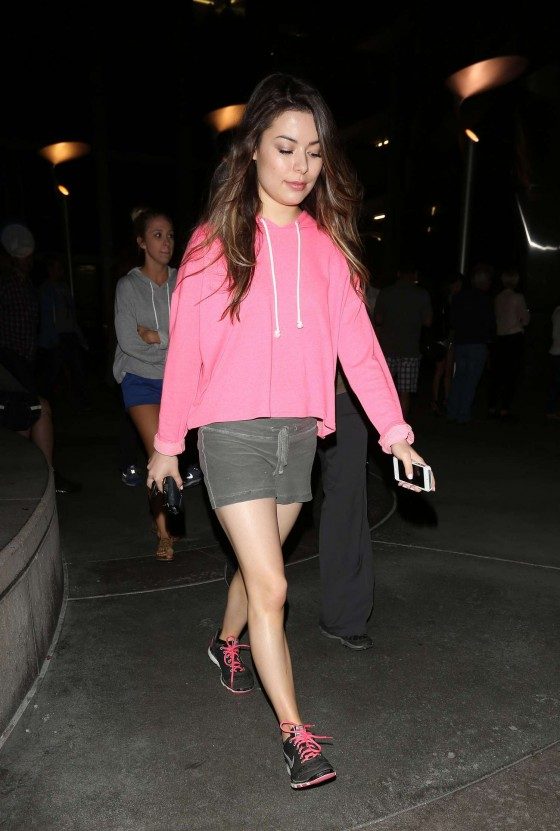 Miranda Cosgrove in shorts out in Hollywood -01
