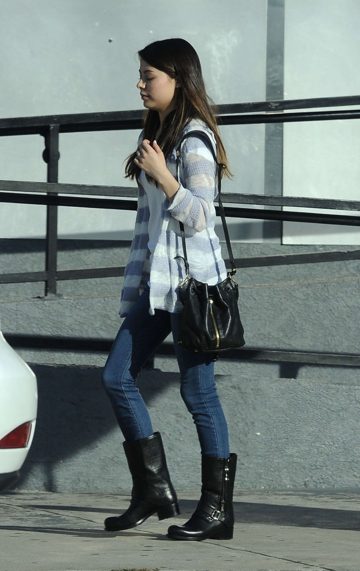 Miranda Cosgrove in Jeans out in LA