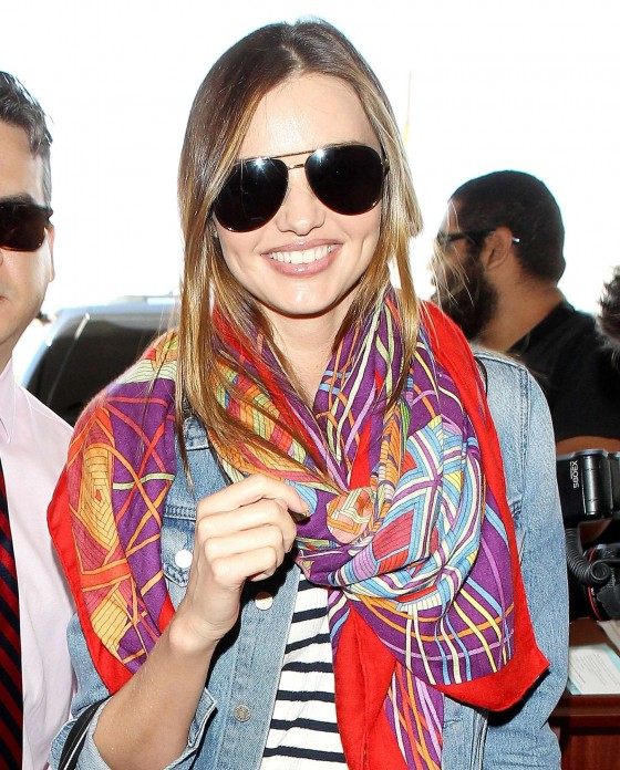 Miranda Kerr – arrives at the Los Angeles International Airport -01