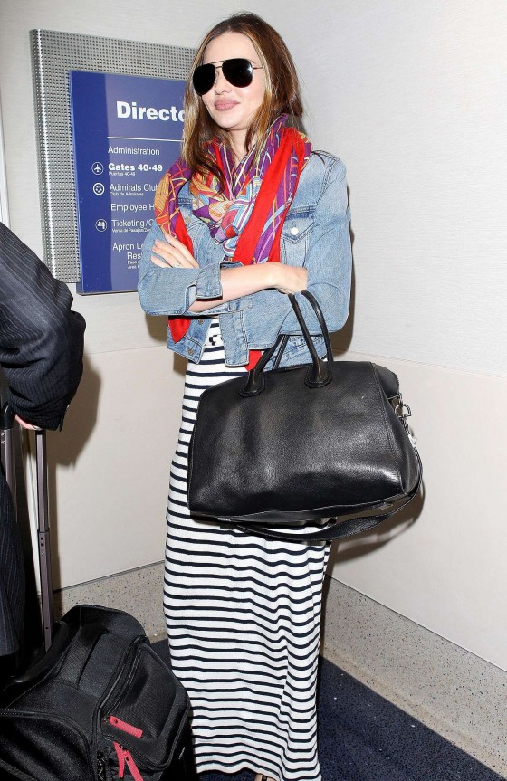 Miranda Kerr – arrives at the Los Angeles International Airport -06