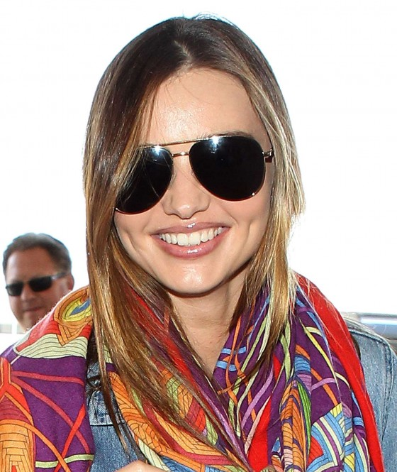 Miranda Kerr – arrives at the Los Angeles International Airport -12
