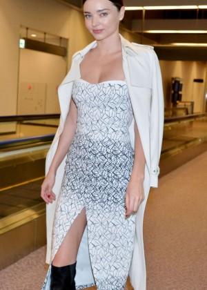Miranda Kerr - Arriving at Narita International Airport in Tokyo