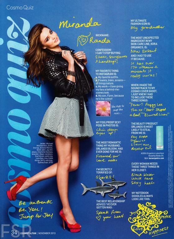 Miranda Kerr – Cosmopolitan USA November 2013 -01