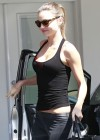 Miranda Kerr - Flashing red bra at Gym in West Hollywood-02