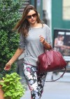 Miranda Kerr in a tight pants  leaves her apartment in NY