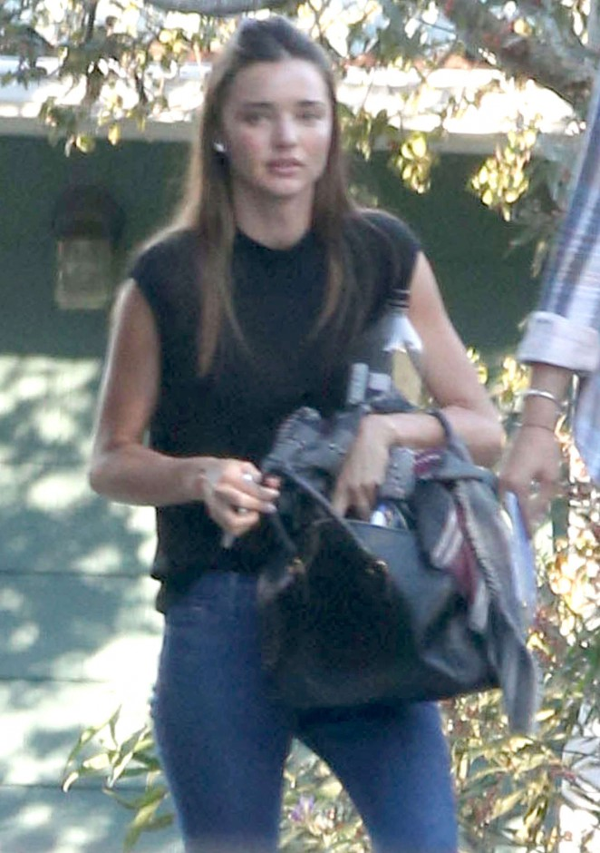 Miranda Kerr in Jeans Leaving a private gym in LA