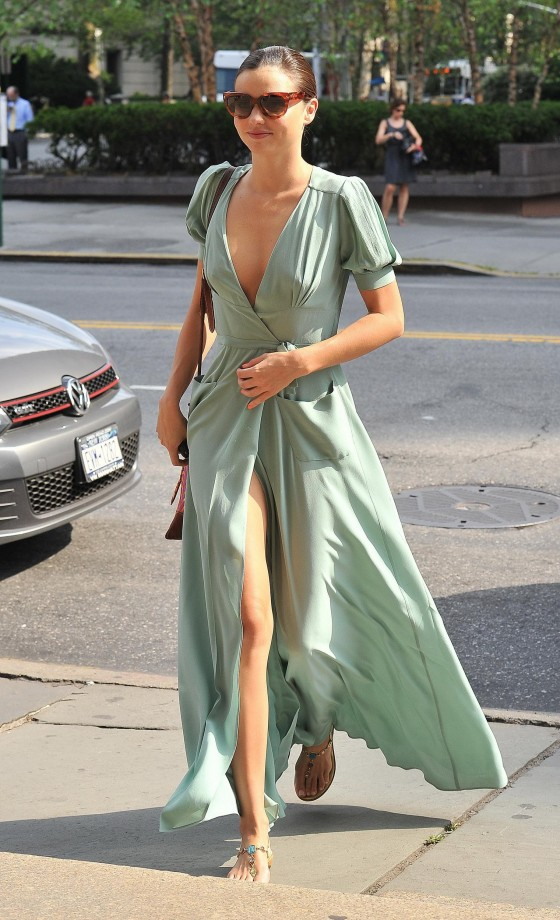 Miranda Kerr - Leggy Candids in New York