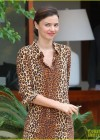 Miranda Kerr - Leggy in leopard print dress -03